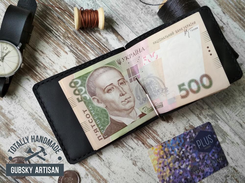 Зажим для купюр мужское портмоне зажим для денег черный фото №1