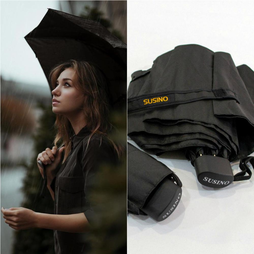 Женский компактный складной зонт качество susino фото №1