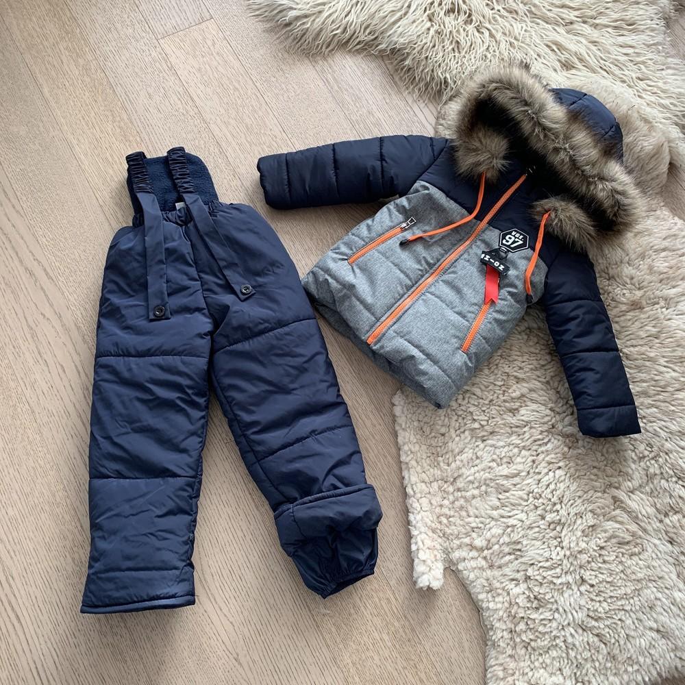 Зимний комбинезон на мальчика 3-6 лет, размеры 98-116, 720 фото №1