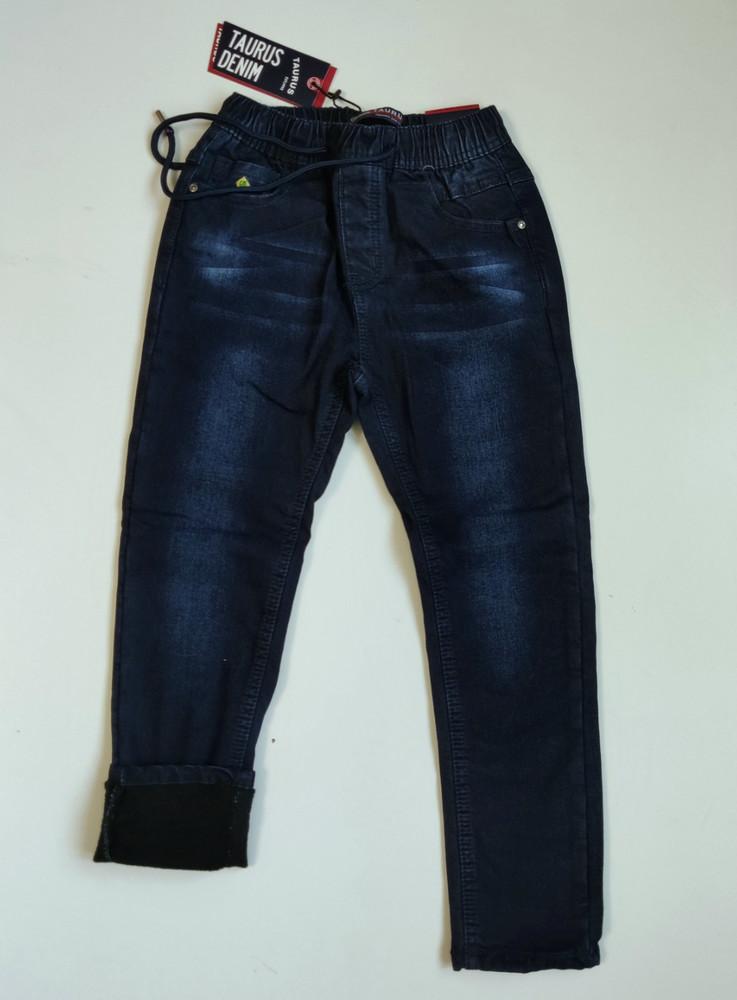 Джинсы на флисе для мальчика подростковые ,фирма taurus.венгрия, джинсы утепленные ,134-164 фото №1