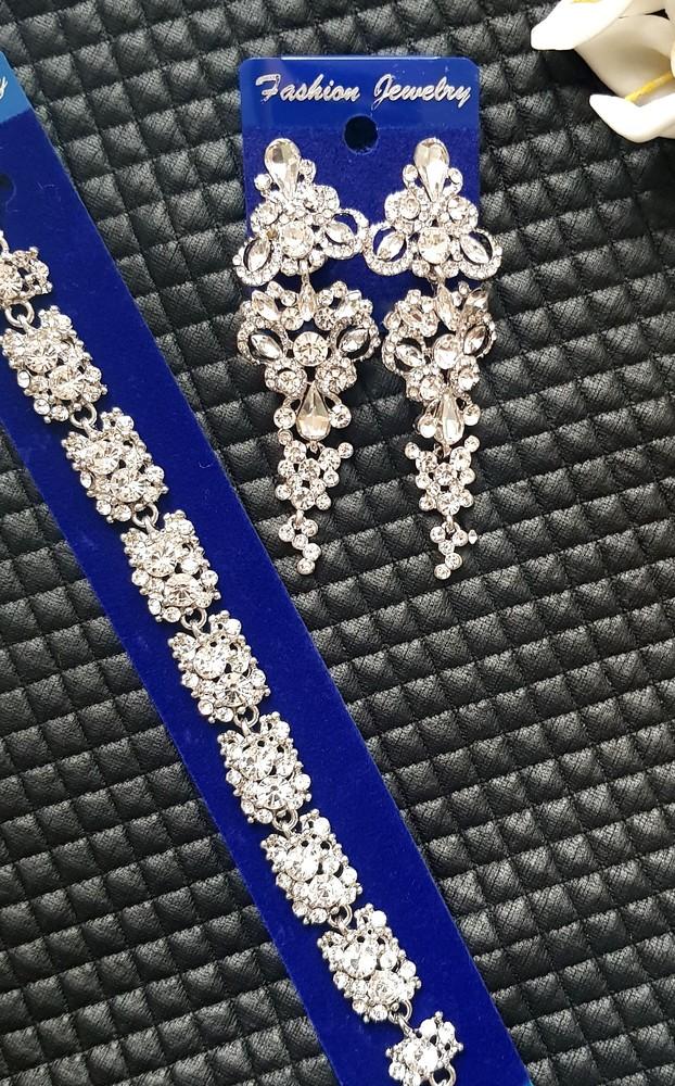 Шикарные серьги-люстры вечерний выход (серебро, позолота ) фото №1