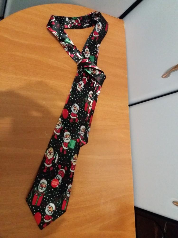 Новый прикольный новогодний музыкальный галстук фото №1