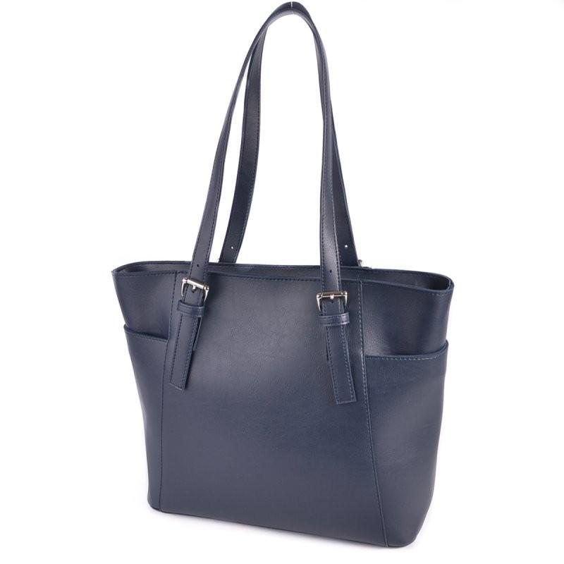 Синяя сумка корзина м195-62 с длинными ручками фото №1