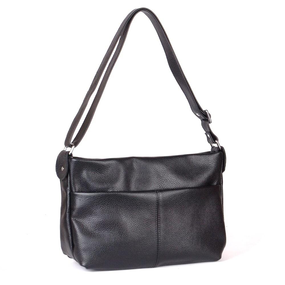 Кожаная женская сумка на плечо разные цвета фото №1