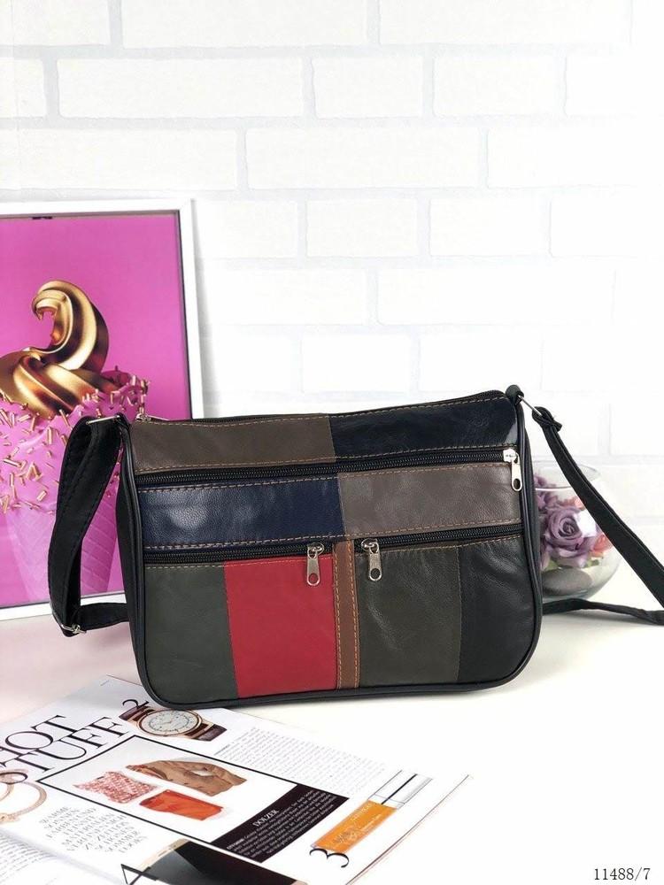 Натуральная кожа сумка женская через плечо цветная длинная ручка недорого турция фото №1