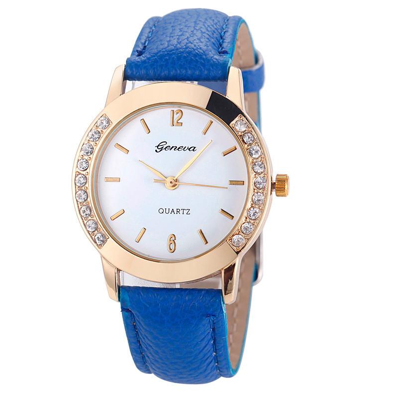 Женские часы geneva со стразами фото №1