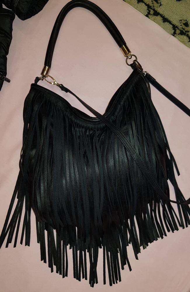 Стильная мягкая сумка с декором-лапшой h&m фото №1