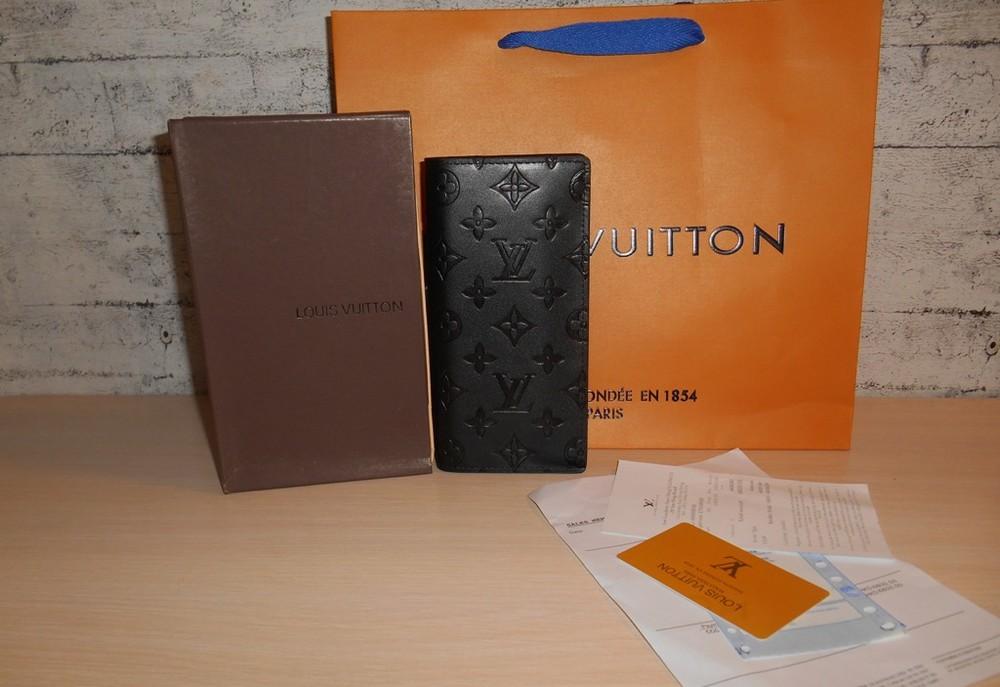 Кошелек мужской портмоне louis vuitton, кожа, франция фото №1