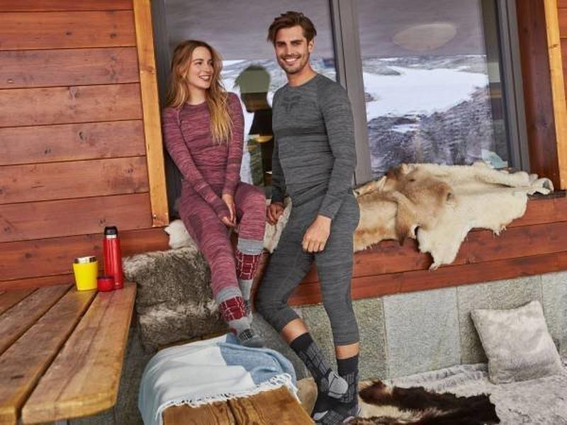 Crivit мужские бесшовные лыжные термо капри термо белье под высокие лыжные носки фото №1