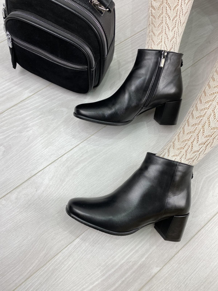 Женские демисезонные ботинки кожа и замш stepter г.львов фото №1