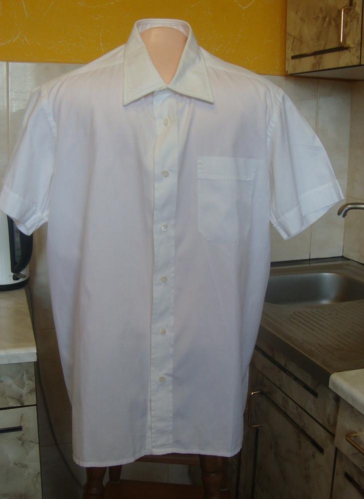 Рубашка белая м/l 100%котон фото №1