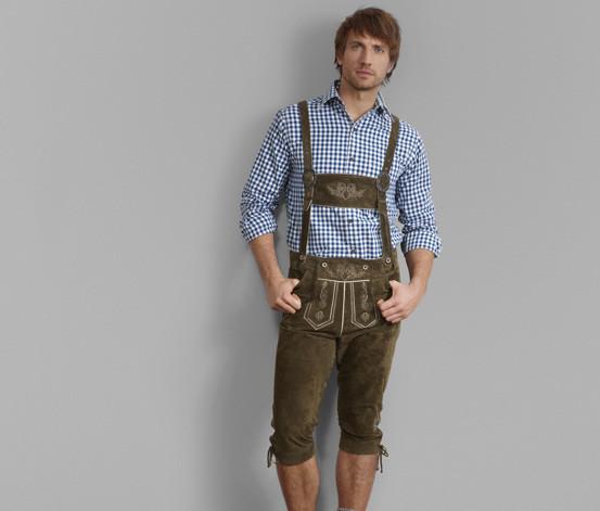 Короткие мужские кожаные штаны октоберфест от tchibo,р.50 eur фото №1