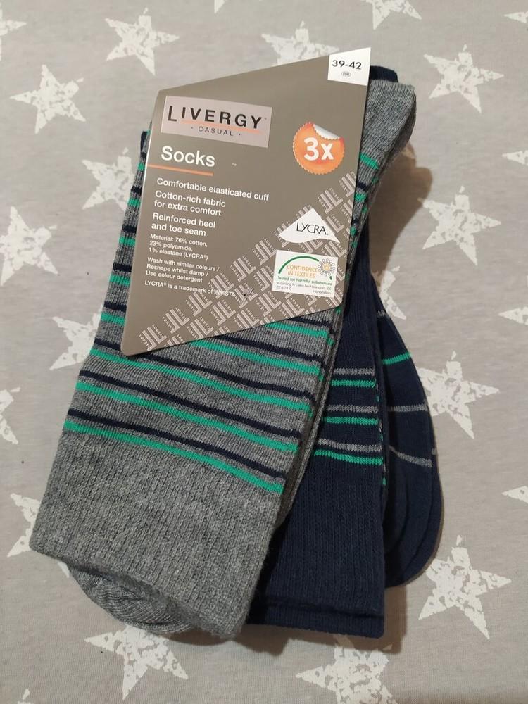 Комфортные мужские носки livergy германия, 39-42, 43-46 фото №1