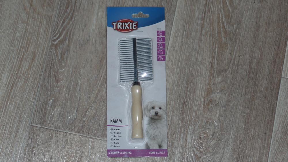 Двухстороння расческа фирмы трикси для длинношерстых собак фото №1