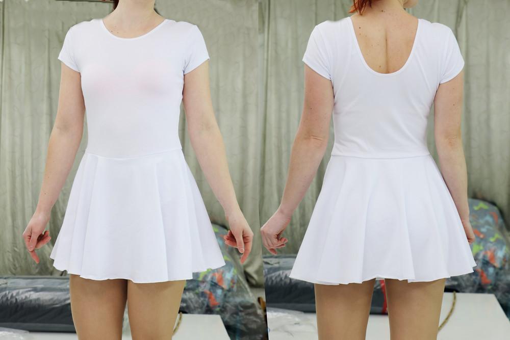 Купальник с юбкой для хореографии и гимнастики. фото №1