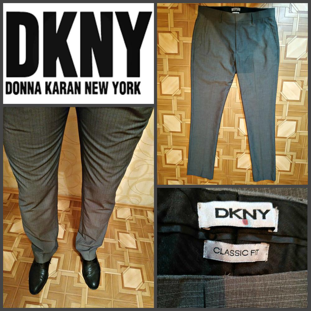Классические брюки от dkny (donna karan new york) р. 32\32, оригинал фото №1