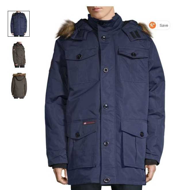 Зимняя теплая куртка парка canada weather gear из сша размер л фото №1