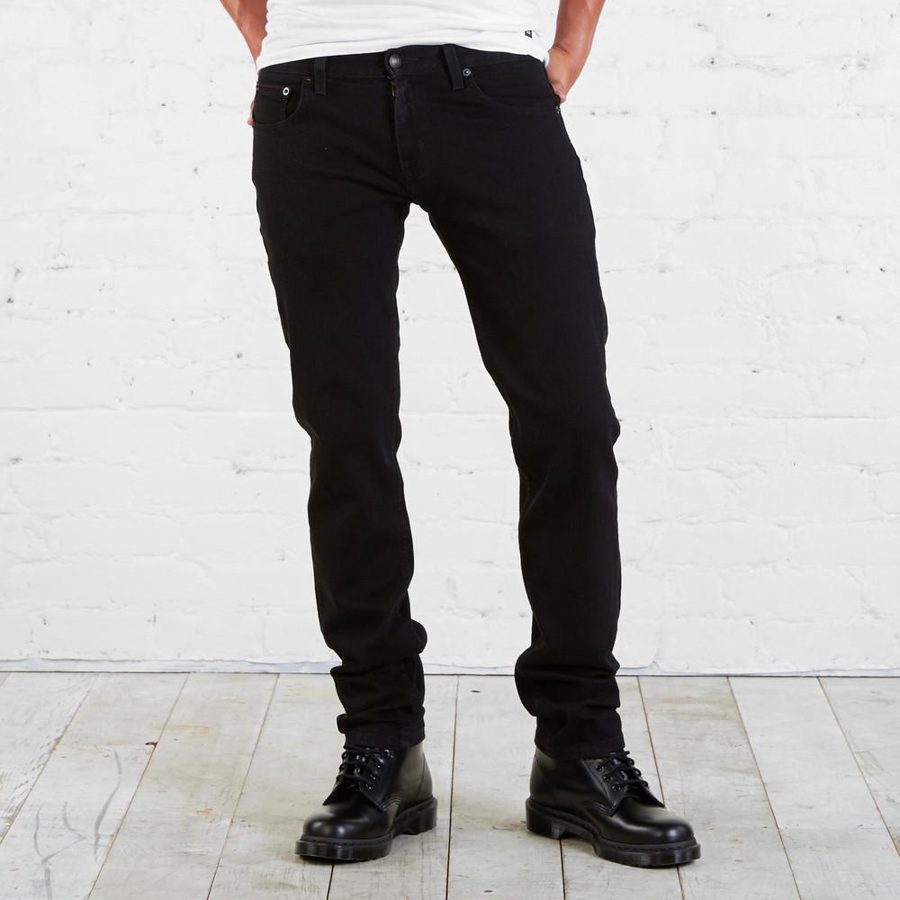Джинсы мужские черные adam levine - skinny fit - 32, 34 фото №1