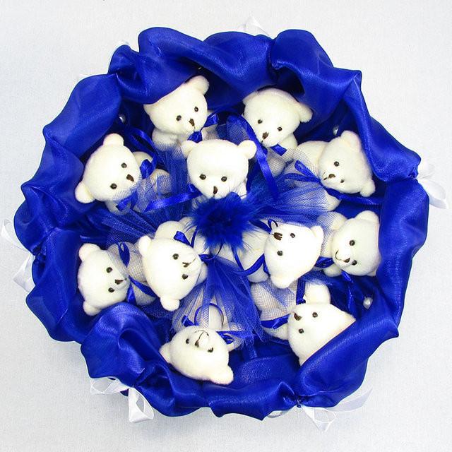 Букет из игрушек мишки 11 синий 5282it фото №1