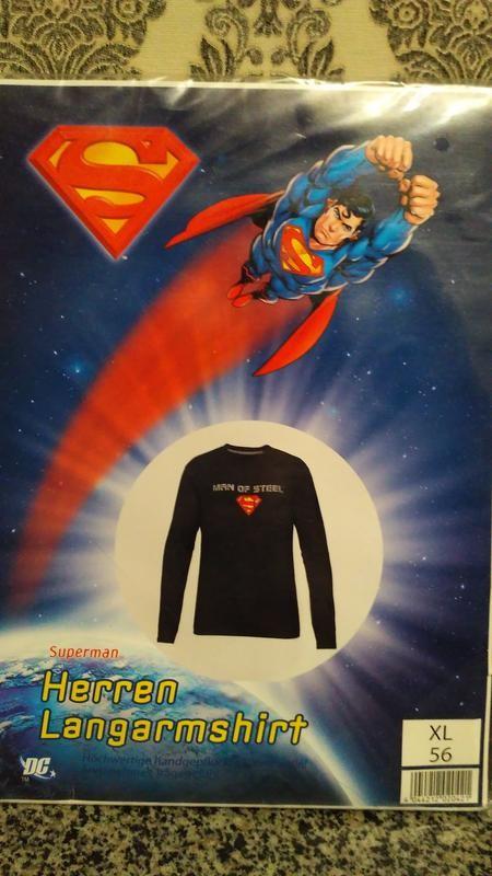 Superman германия новый фирменный хлопковый лонгслив, реглан фото №1