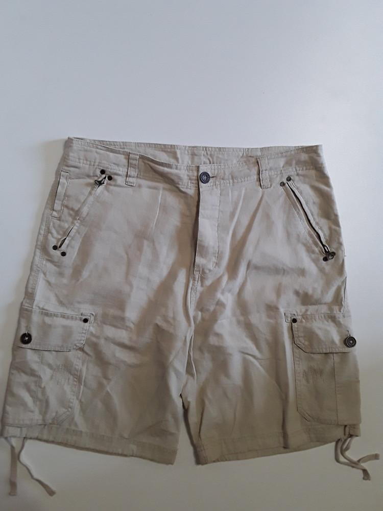 Фирменные полульняные шорты m-l фото №1