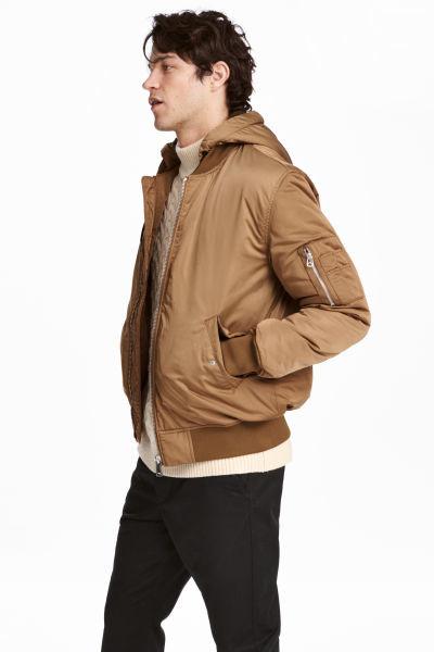 Куртка утепленная с капюшоном бомбер от h&m фото №1