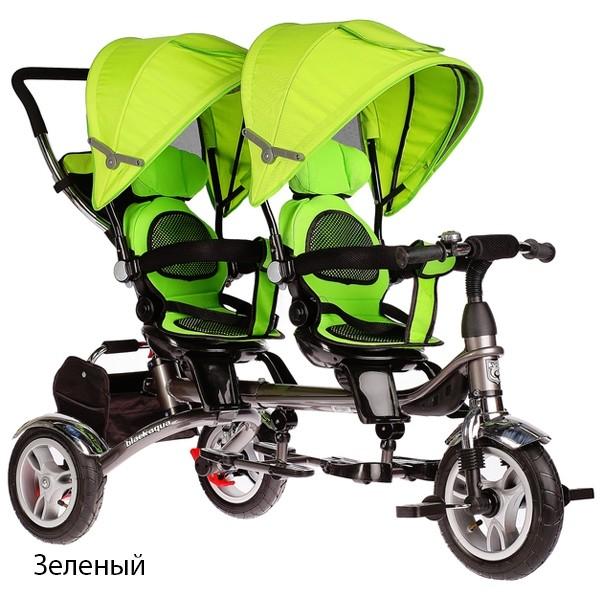 Велосипед для двойни twins black aqua фото №1