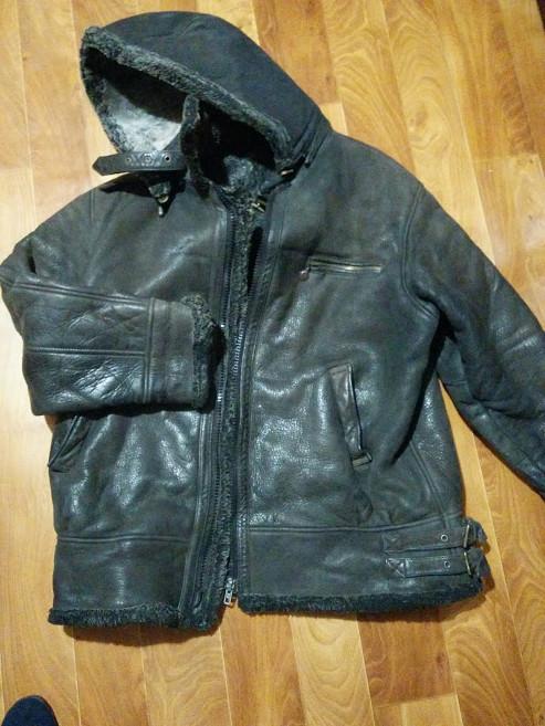 Куртка мужская тёплая кожаная искуственный мех. нужно вставить замок . размер 52 фото №1