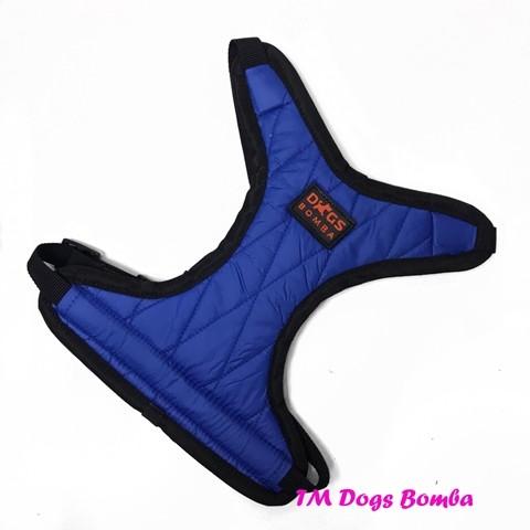 Шлея для собачек ромбик синяя s-8 фото №1