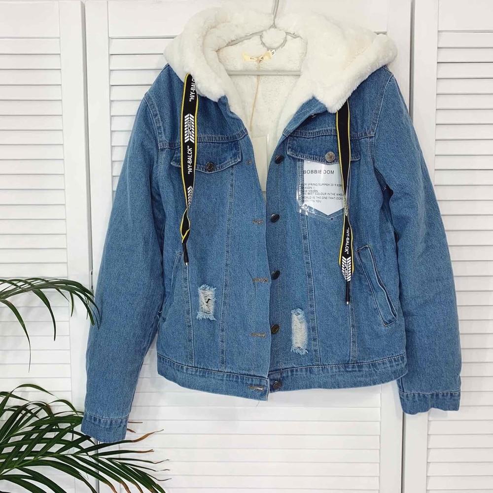 Куртка джинсовая на меху фото №1
