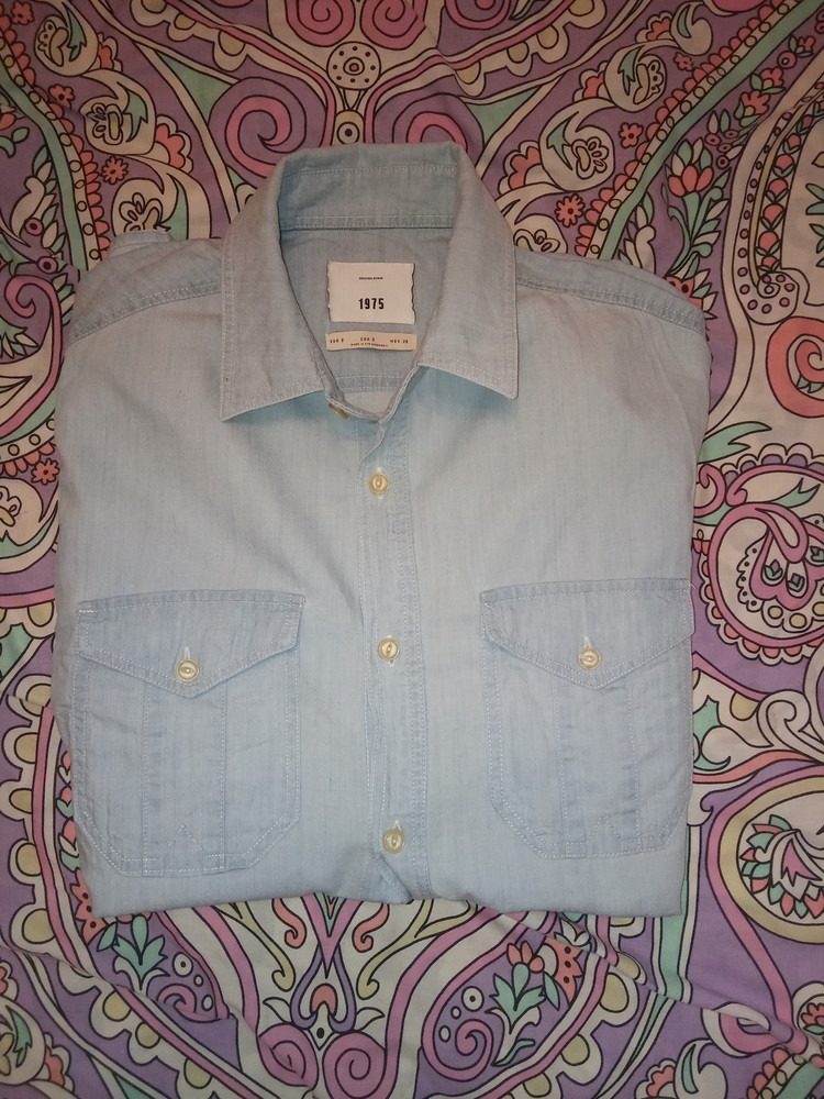 Котоновая рубашка s-m фото №1
