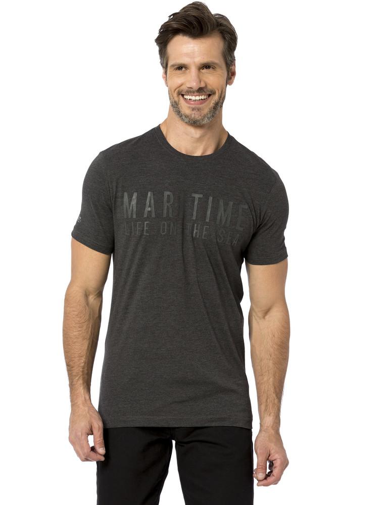 Мужская футболка lc waikiki / лс вайкики maritime life on the sea антрацитового цвета фото №1