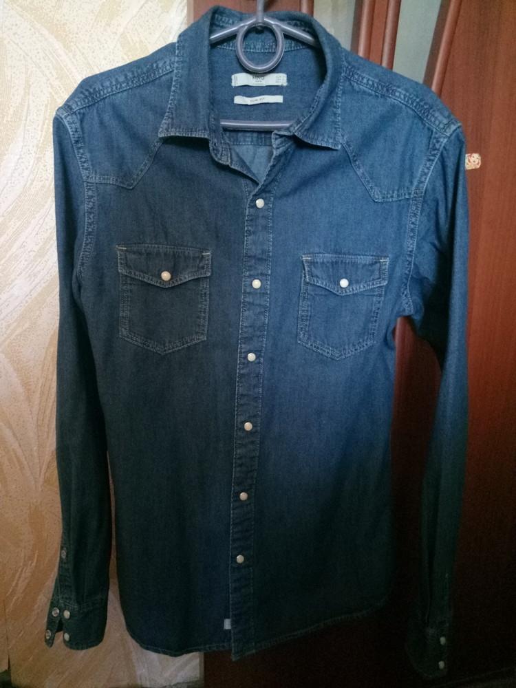 Джинсовая рубашка mango 46р. фото №1