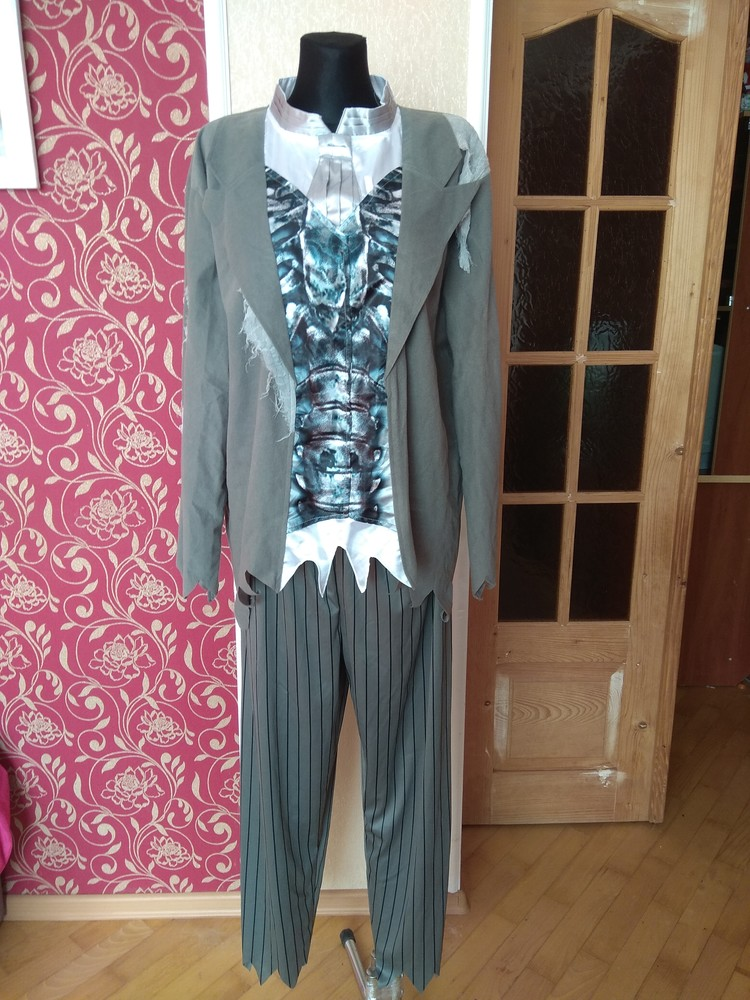 Карнавальний костюм зомбі новийз біркою ,розмір large,з капелюхом фото №1
