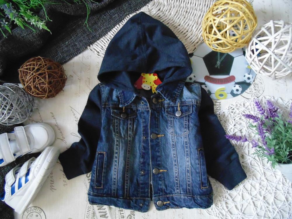 2года.модная джинсовая куртка пиджак infex.мега выбор обуви и одежды!, цена  225 грн - купить Верхняя одежда бу - Клумба
