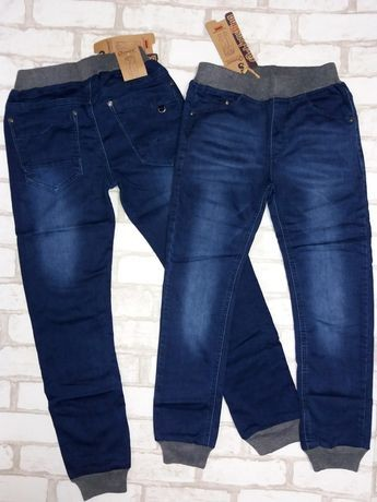 Джоггеры, джинсы на резинке с манжетами, grace. фото №1