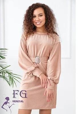Женское платье из вельвета monica 42-44 46-48 фото №1