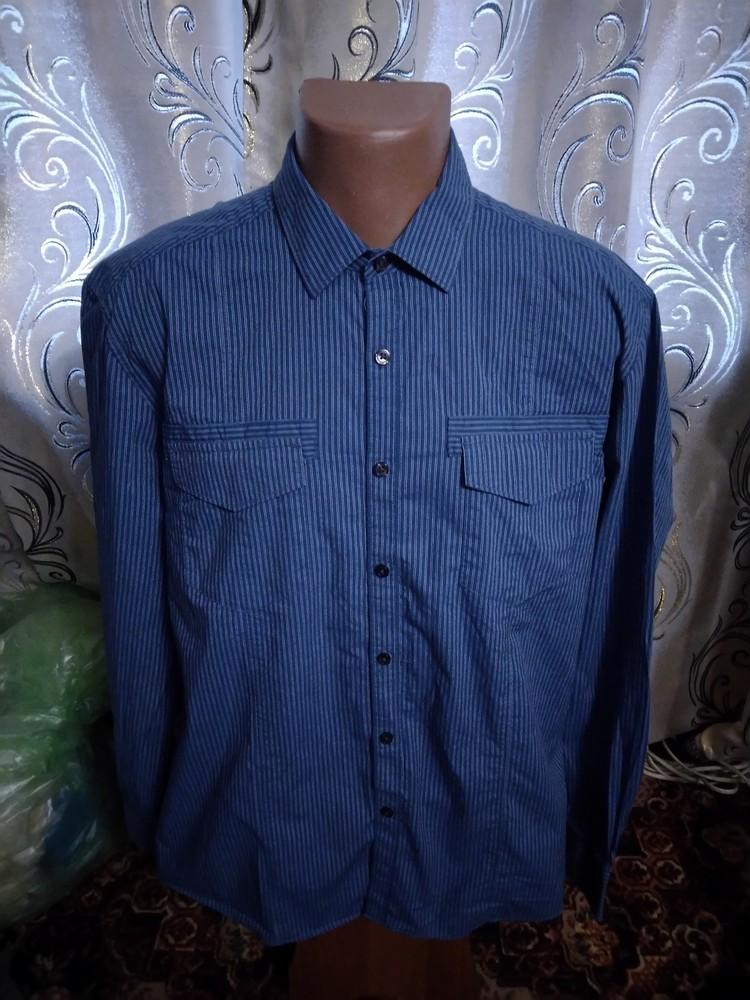 Мужская рубашка в полоску kenneth cole фото №1