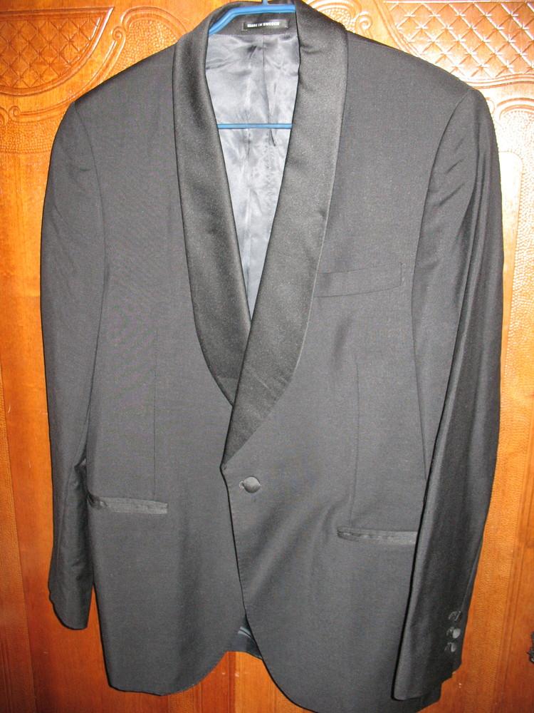 Пиджак-смокинг,шерсть,разм.46-48. фото №1