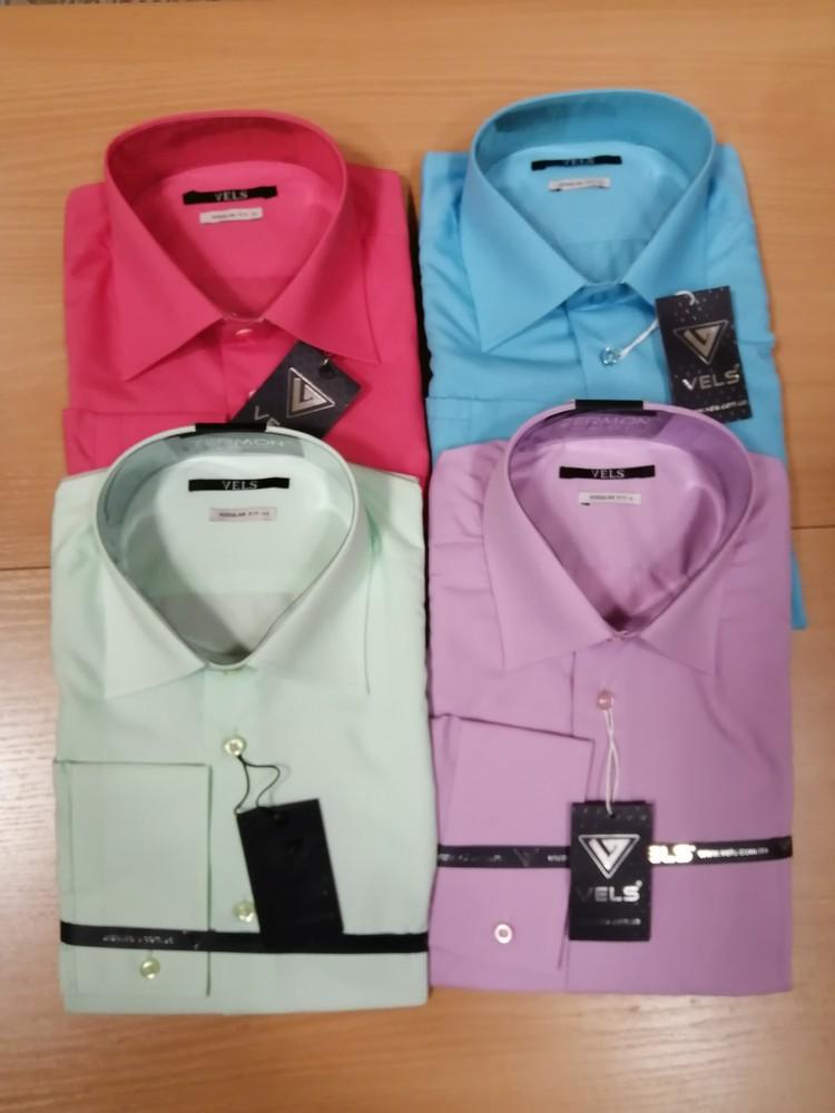 Рубашки мужские разных расцветок, размеры s, m фото №1