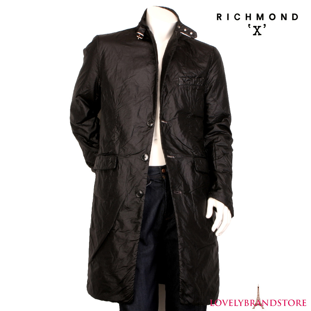 Richmond x италия р. m 46-48 мужское легкое пальто плащ дождевик тренчкот осень весна демисезон фото №1