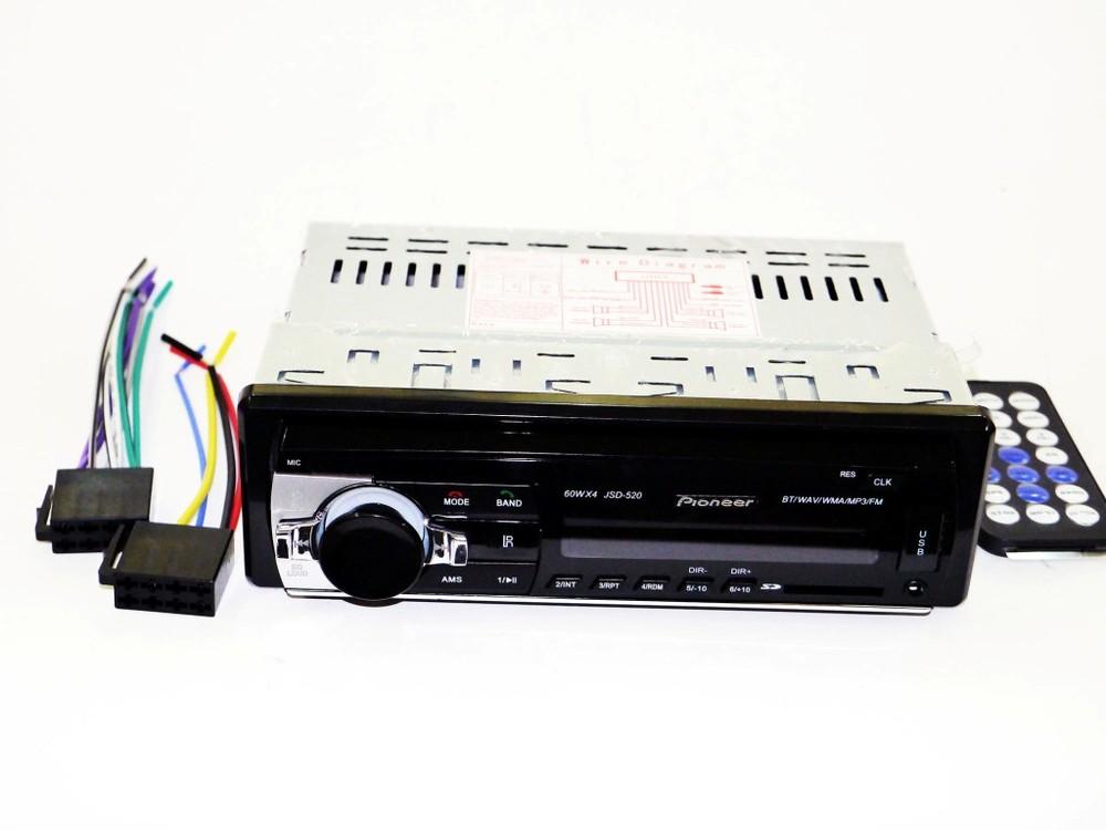 Автомагнитола pioneer jsd-520 iso - mp3, fm, usb, sd, aux, bluetooth фото №1