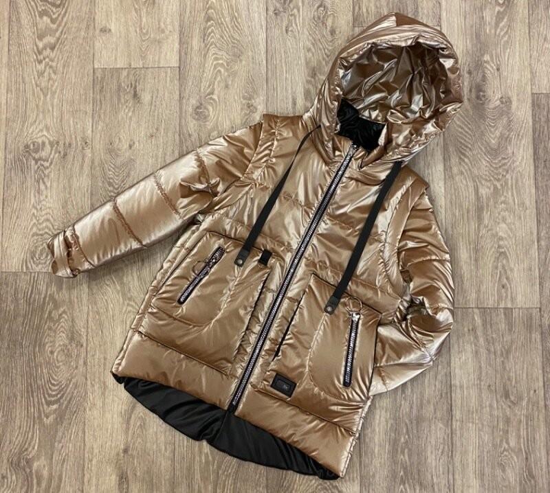 Яркая весенняя куртка жилет для девочки фото №1