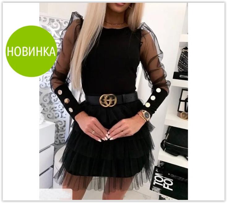 Блузка женская с пышными рукавами новинка 2020 2 цвета фото №1