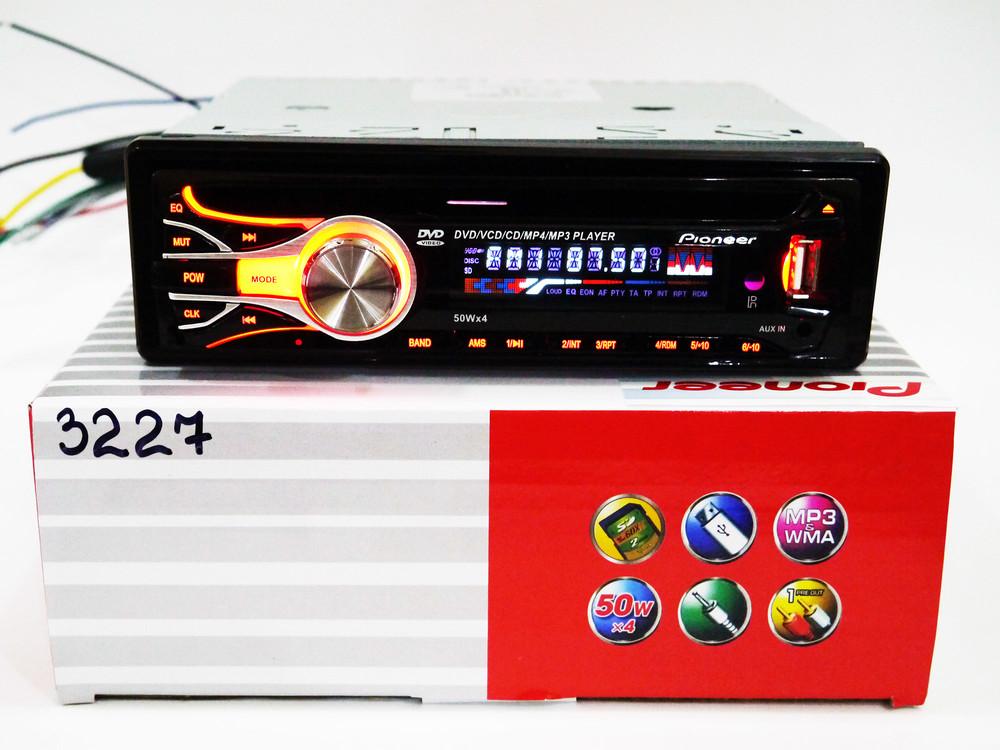 Автомагнитола dvd pioneer 3227 usb, sd, mmc съемная панель фото №1