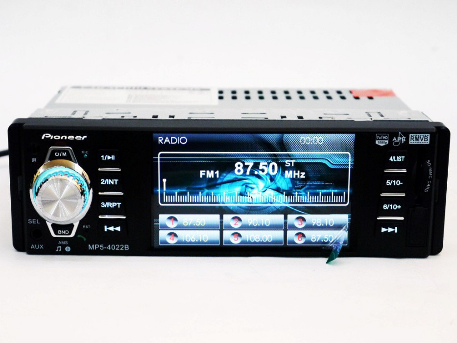 Автомагнитола pioneer 4022 iso - экран 4,1'', divx, mp3, usb, sd, bluetooth фото №1
