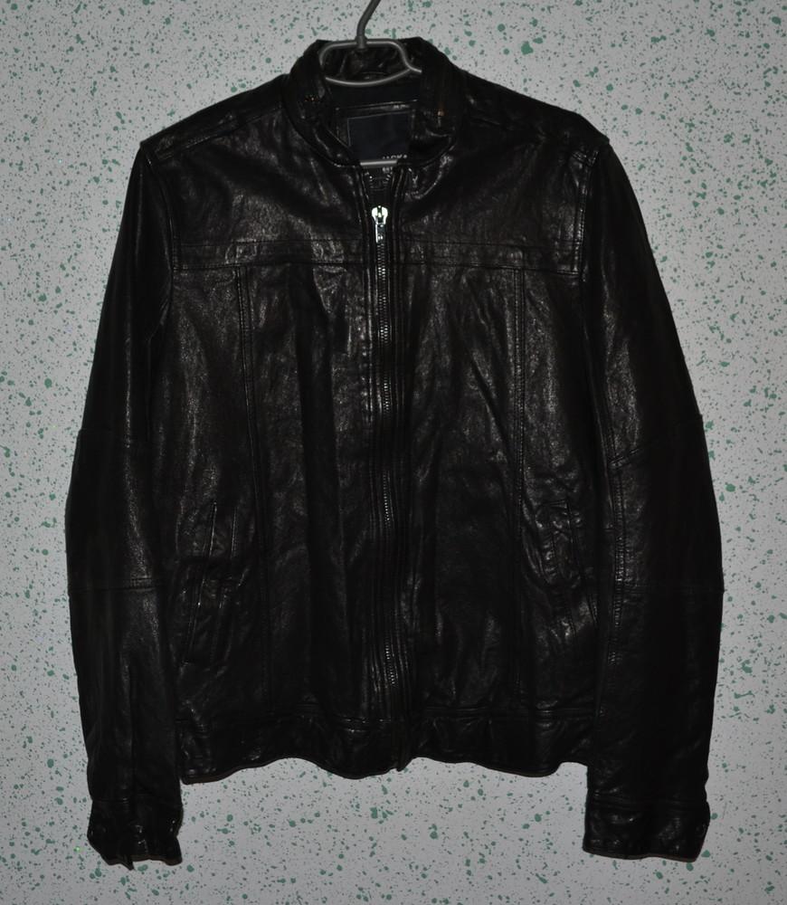 Мужская кожаная куртка jack&jones, р. m фото №1