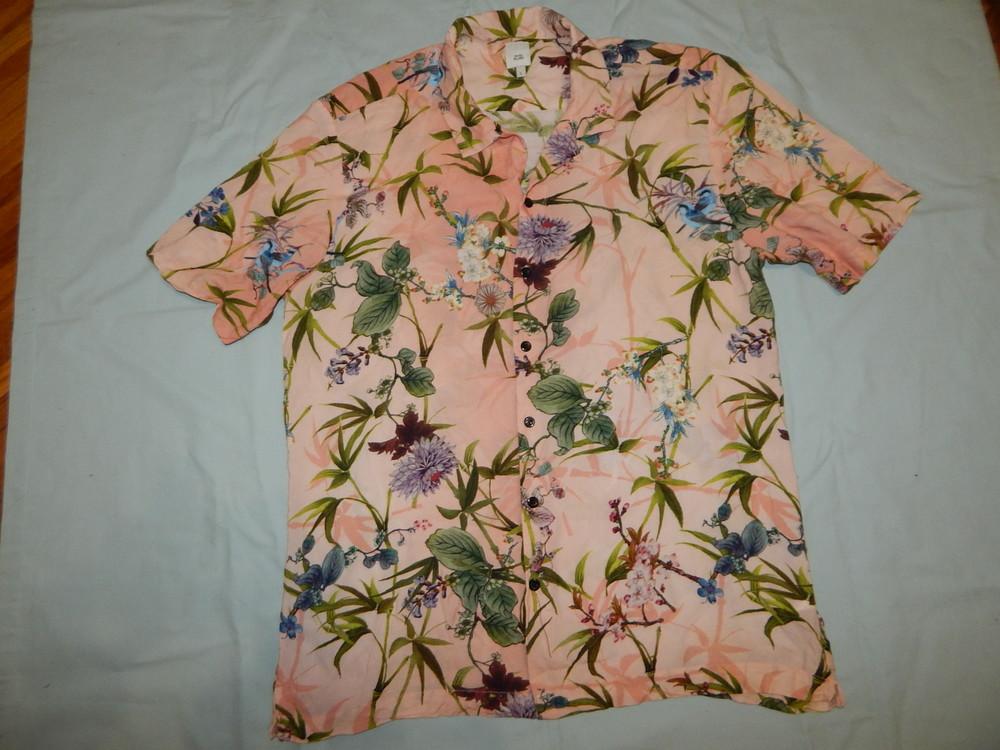 River island рубашка вискозная мужская модная рl фото №1