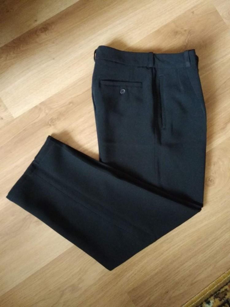 Классические брюки насыщенного черного цвета от senator, размер 44 фото №1