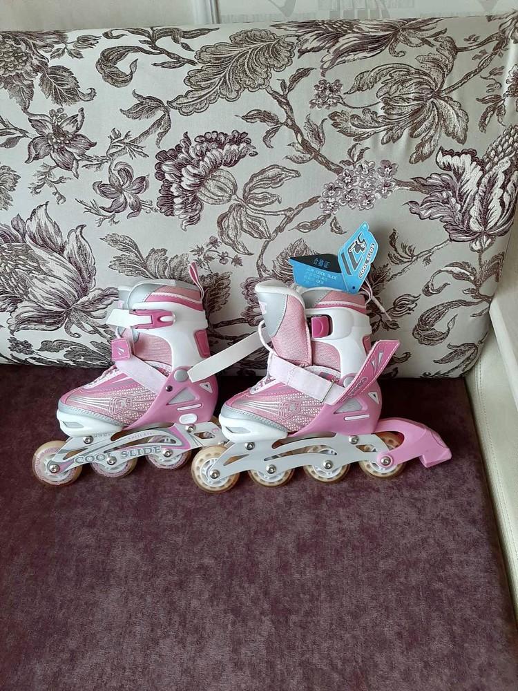 Детские ролики розовые фото №1